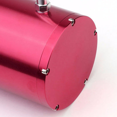 "Pink 8.5""x3""DIA Aluminum 3/8""Barb Coolant Recovery Overflow Oil Tank Can Bottle-Performance-BuildFastCar"