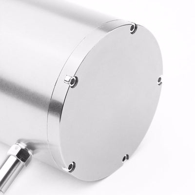 "Silver 8.5""x3"" Aluminum 3/8""Barb Coolant Recovery Overflow Oil Tank Can Bottle-Performance-BuildFastCar"