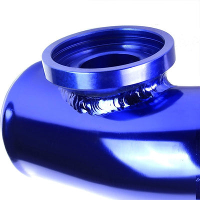 Silver SSQV Anodized Turbo Blow Off Valve TYA2+Blue Dual Port BOV Flange Pipe-Performance-BuildFastCar