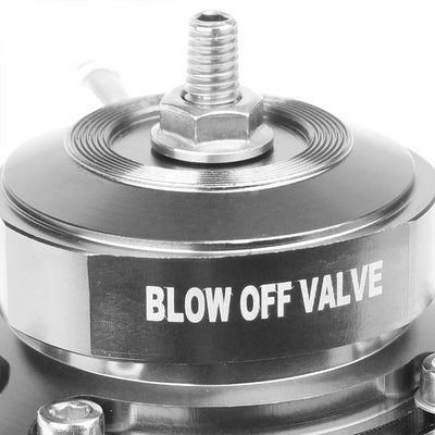 "Black Type-FV 30 PSI 2Pcs Blow Off Valve BOV+Blue 9.5"" Dual Port Flange Pipe-Performance-BuildFastCar"