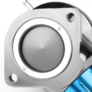 "Light Blue Type-FV 30 PSI Blow Off Valve BOV+Silver 8"" 80 Degree Flange Pipe-Performance-BuildFastCar"