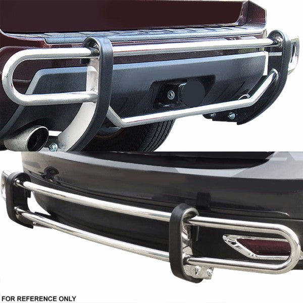 "SS 1.25"" Double RD Bar RR Bumper Guard For 98-03 ML230/03-05 ML350/98-01 ML430/02-05 ML500-Exterior-BuildFastCar"