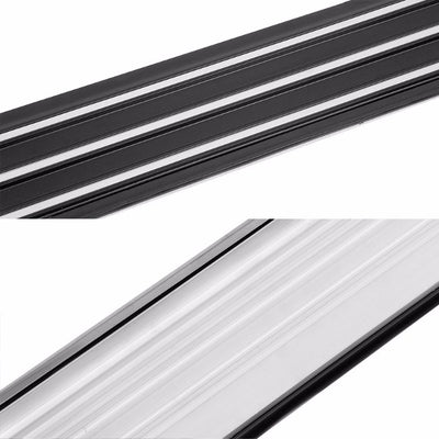 "Silver Ridgeline Flat 5.25"" Wide Step Running Board For 13-17 Hyundai Santa Fe-Running Boards/Steps-BuildFastCar"
