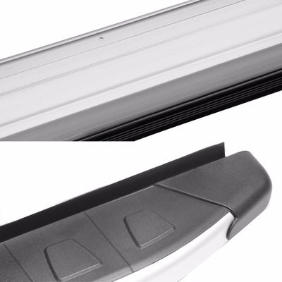 "Silver Flat 5.75"" Wide Step Pads Running Board For 11-17 Jeep Grand Cherokee WK2-Running Boards/Steps-BuildFastCar"