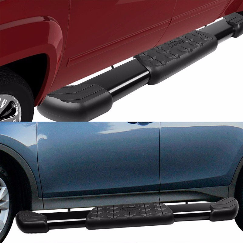 "Black Nerf Rail 5"" Wide Step Running Board For 07-17 Tundra Standard/Regular-Running Boards/Steps-BuildFastCar"