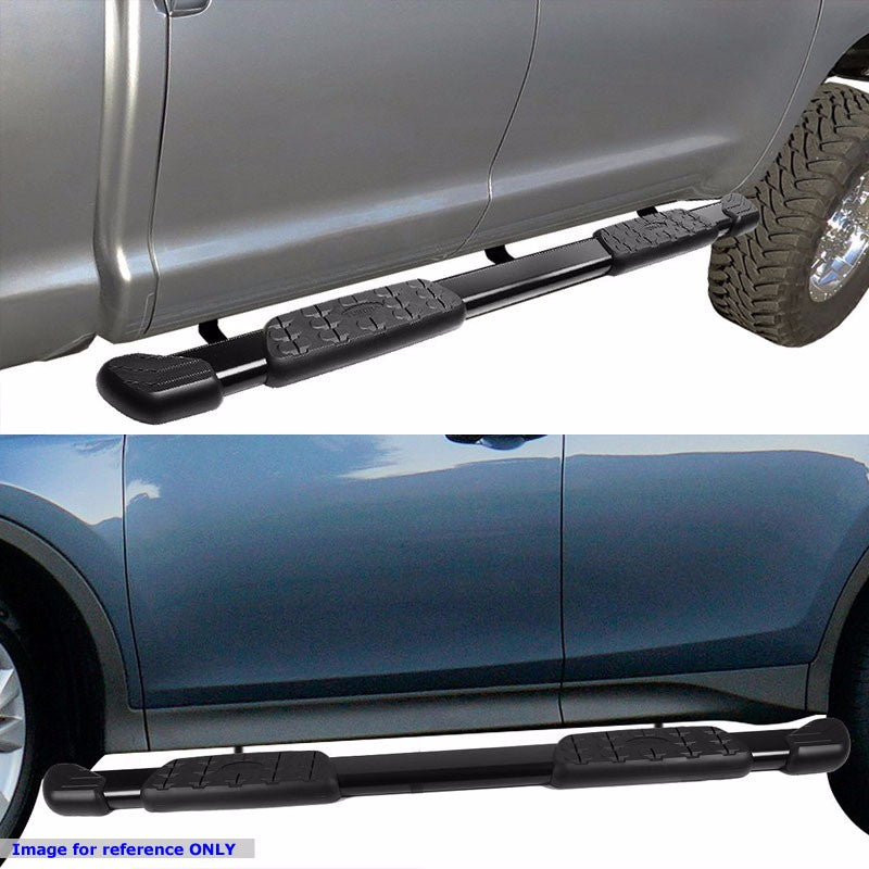 "Black Nerf Rail 5"" Wide Step Running Board For 07-18 Toyota Tundra Extended Crew-Running Boards/Steps-BuildFastCar"