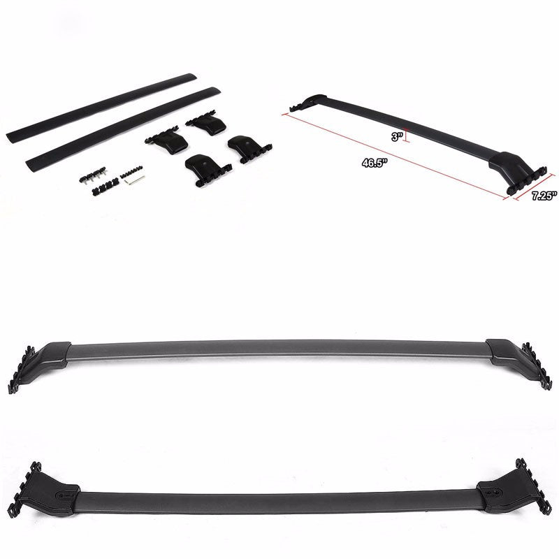Black Factory Style Luggage Top Roof Rack Crossbar/Rail for Honda 09-15 Pilot-Exterior-BuildFastCar