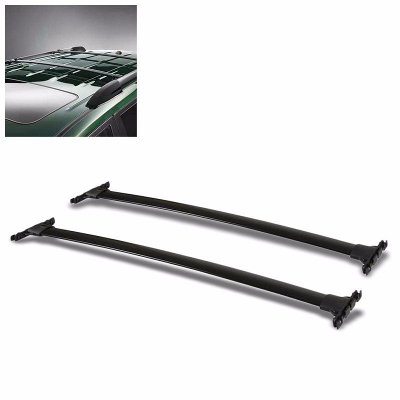Black Factory Style Luggage Top Roof Rack Crossbar/Rail for 08-13 Highlander XU4-Exterior-BuildFastCar