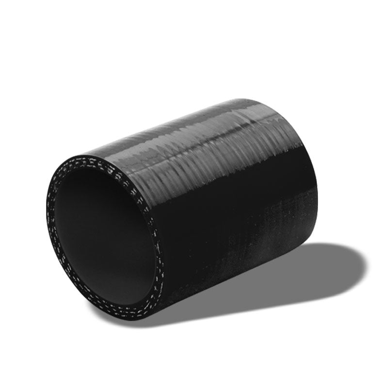 "Black Silicone 2"" 3-Ply Straight Turbo/Intake/Intercooler Piping Coupler Hose-Performance-BuildFastCar"