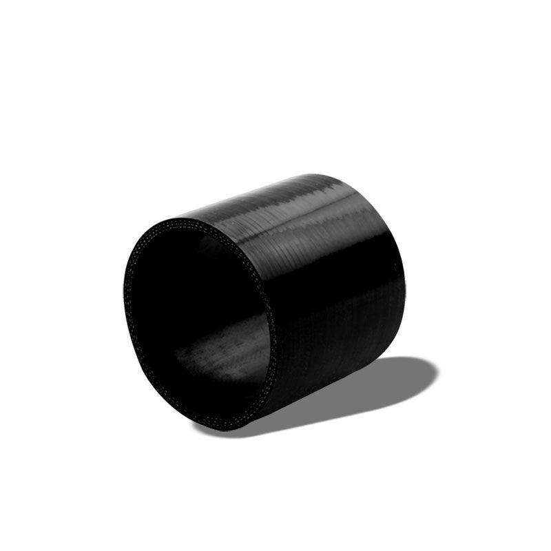 "Black Silicone 3"" 3-Ply Straight Turbo/Intake/Intercooler Piping Coupler Hose-Performance-BuildFastCar"