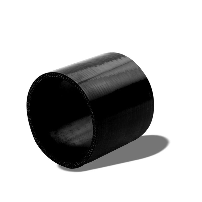 "Black Silicone 3.50"" 3-Ply Straight Turbo/Intake/Intercooler Piping Coupler Hose-Performance-BuildFastCar"