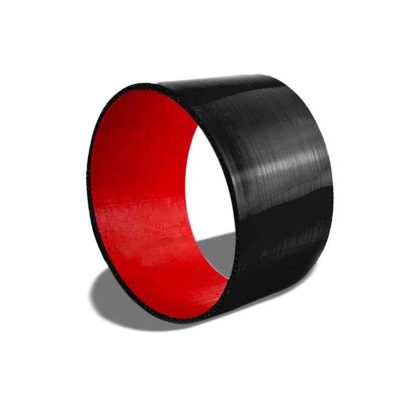 "Black-Red 3Ply Silicone 4.00"" Straight Coupler Hose for Turbo/Intake/Intercooler-Performance-BuildFastCar"