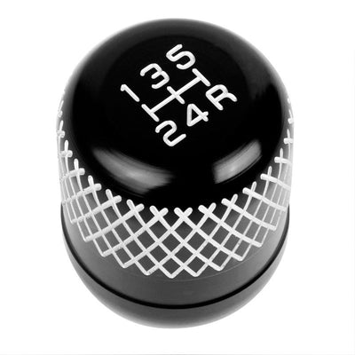 M8/M10/M12 Thread Black 5-Speed MT Aluminum Netted Design Short Throw Racing Shift Knob+Reverse-Interior-BuildFastCar