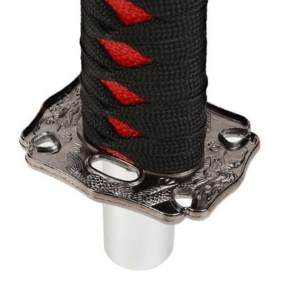"8.5"" Black Wrap/Red Handle Katana Samurai Sword Gear Shift Knob+ M8/M10/M12 Base-Interior-BuildFastCar"
