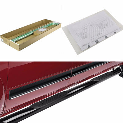 "Black Steel 3"" Wide Step Running Board For 99-16 Silverado 1500 Extended Cab-Running Boards/Steps-BuildFastCar"