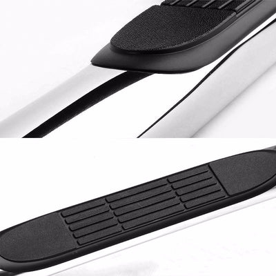 "Silver Steel 3"" Wide Step Running Board For 99-16 Silverado 1500 Extended Cab-Running Boards/Steps-BuildFastCar"
