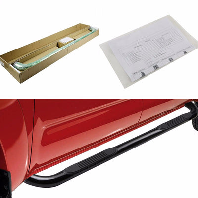 "Black Steel 3"" Wide Step Running Board For 07-13 Chevrolet Avalanche Crew Cab-Running Boards/Steps-BuildFastCar"