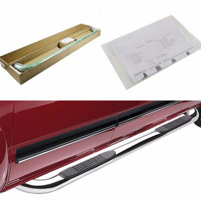 "Silver 90 Degree Bend 3"" Wide Step Running Board For 02-08 Ram 1500 Extended-Running Boards/Steps-BuildFastCar"