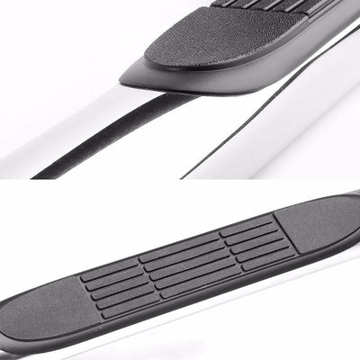 "Silver Steel 90 Degree Bend 3"" Wide Step Running Board For 09-14 Ford F-150 Crew-Running Boards/Steps-BuildFastCar"