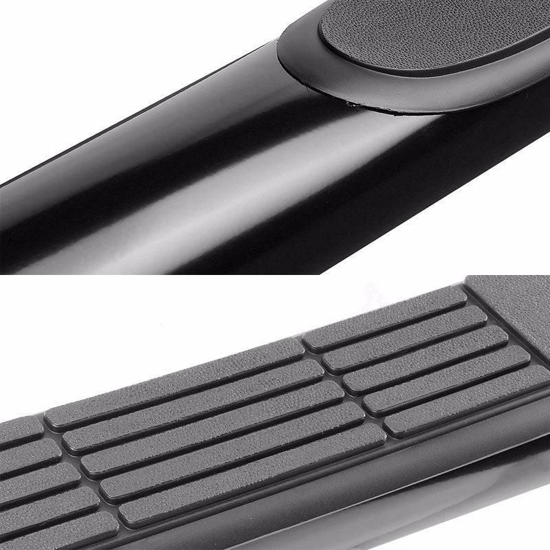 "Black 90 Degree Bend 3"" Wide Step Running Board For 87-06 Jeep Wrangler YJ/TJ-Running Boards/Steps-BuildFastCar"