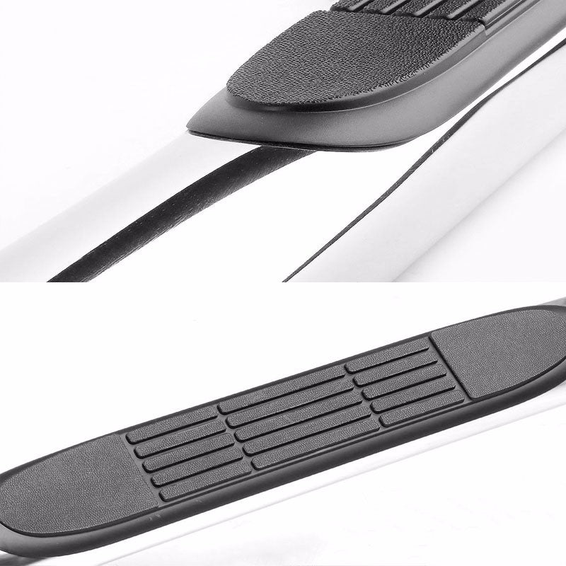 "Silver 45 Degree Bend 3"" Wide Step Running Board For 06-12 Toyota RAV4 XA30-Running Boards/Steps-BuildFastCar"