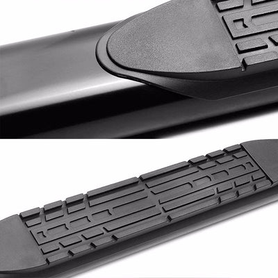 "Black Steel Straight 4"" Wide Step Running Board For 01-16 Silverado Crew Cab-Running Boards/Steps-BuildFastCar"