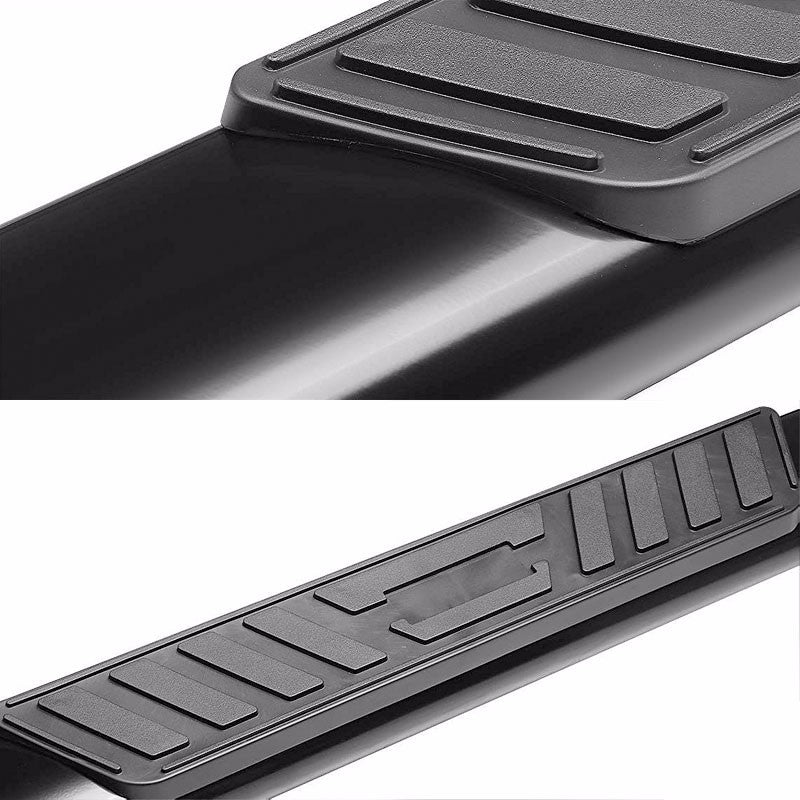 "Black Steel Straight 5"" Wide Step Running Board For 01-16 Silverado Crew Cab-Running Boards/Steps-BuildFastCar"