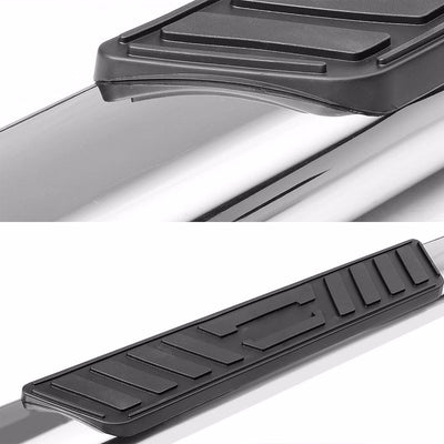 "Silver Steel Straight 5"" Wide Step Running Board For 01-16 Silverado Crew Cab-Running Boards/Steps-BuildFastCar"