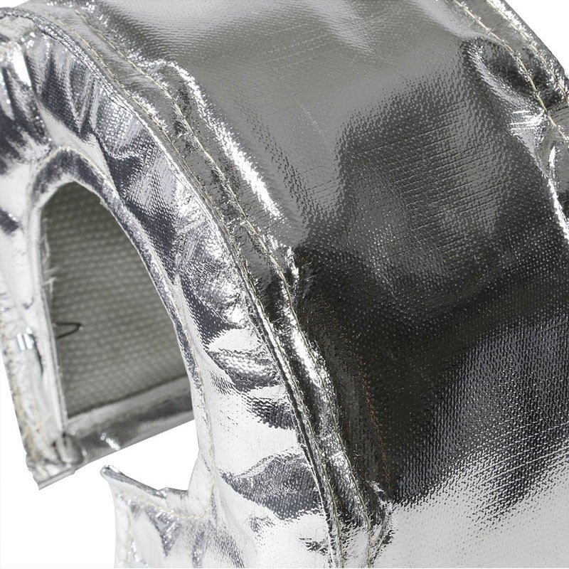 Chrome Turbo/Turbocharger Heat Shield/Wrap Blanket for T6/88 GT40/55 HX52 HT60-Performance-BuildFastCar
