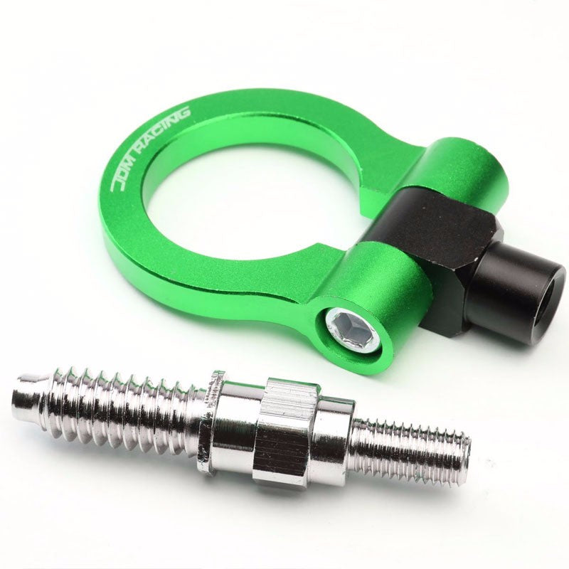 Green M15.8xP3.175 Billet Aluminum Front/Rear Race Tow Hook Ring For BMW 3/5/7-Exterior-BuildFastCar