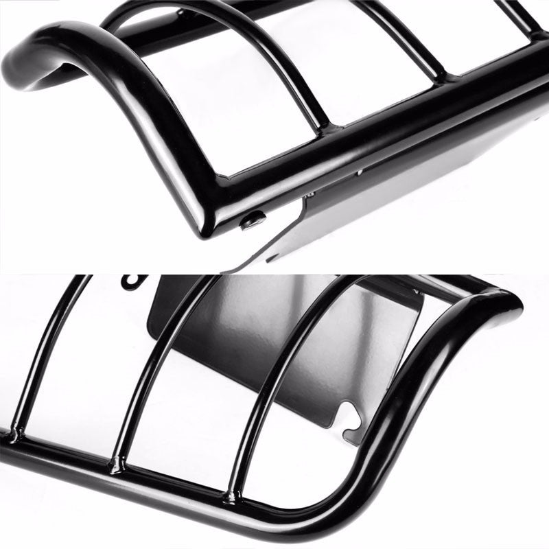 Black Coated Steel Tail Light/Lamp Cage Guard For 08-16 F-250/350/450 Superduty-Exterior-BuildFastCar