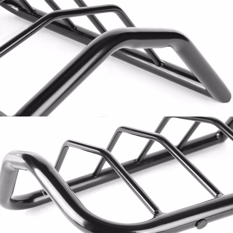 Black Coated Steel Tail Light/Lamp Cage Guard Cover For Jeep 08-13 Liberty-Exterior-BuildFastCar