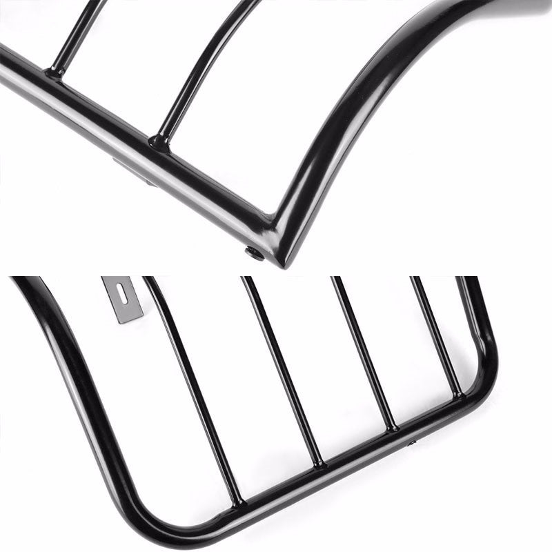 Black Coated Steel Tail Light/Lamp Cage Guard For Chevy 07-14 Silverado/Sierra-Exterior-BuildFastCar