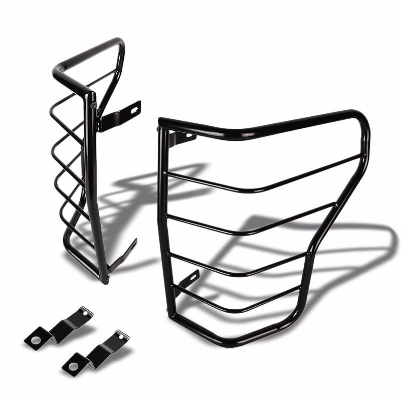 Black Coated Steel Tail Light/Lamp Cage Guard Cover For Toyota 07-13 Tundra-Exterior-BuildFastCar