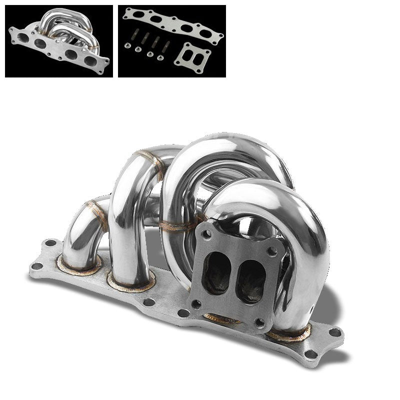 Race SS Chrome CT25 Flange Turbo Manifold For 91-95 MR2 3S-GTE 2.0L DOHC-Performance-BuildFastCar