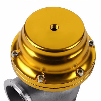 Black Dual Stage Adjustable 1-30 PSI Turbo Boost Control+Gold 44mm 14 PSI V-Band Turbo Wastegate Kit-Performance-BuildFastCar