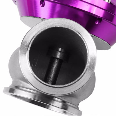 Black Dual Stage Adjustable 1-30 PSI Turbo Boost Control+Purple 44mm 14 PSI V-Band Turbo Wastegate-Performance-BuildFastCar