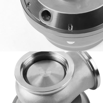 Silver 44mm 14 PSI V-Band Turbo Boost Exhaust Manifold External Wastegate+Dump Pipe Valve+Ring-Performance-BuildFastCar