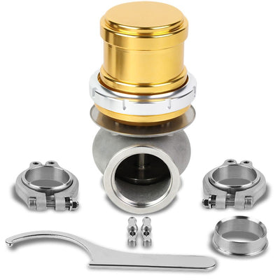 Gold Universal 40mm 14PSI V-Band Clamp-On Turbo External Wastegate+Spring T22