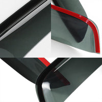 Smoke Tinted Window Wind/Rain Vent Deflectors Visors Guard for Dodge 98-03 Van-Exterior-BuildFastCar