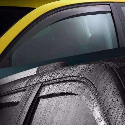 Smoke Tinted Side Window Wind/Rain Vent Deflectors Visor Guard for Toyota 07-14 Tundra-Exterior-BuildFastCar
