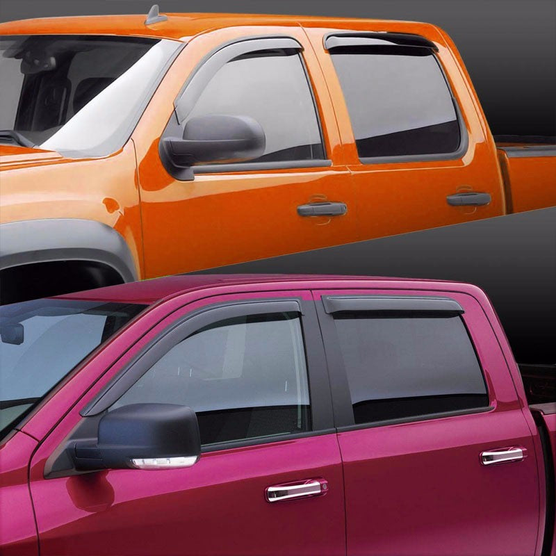 Smoke Tinted Side Window Wind/Rain Vent Deflectors Visors Guard for 04-06 Aveo-Exterior-BuildFastCar