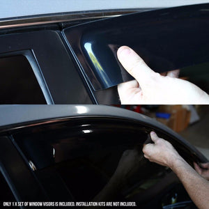 Smoke Tinted Side Window Wind/Rain Vent Deflectors Visor Guard for Chevy 95-99 Monte Carlo-Exterior-BuildFastCar