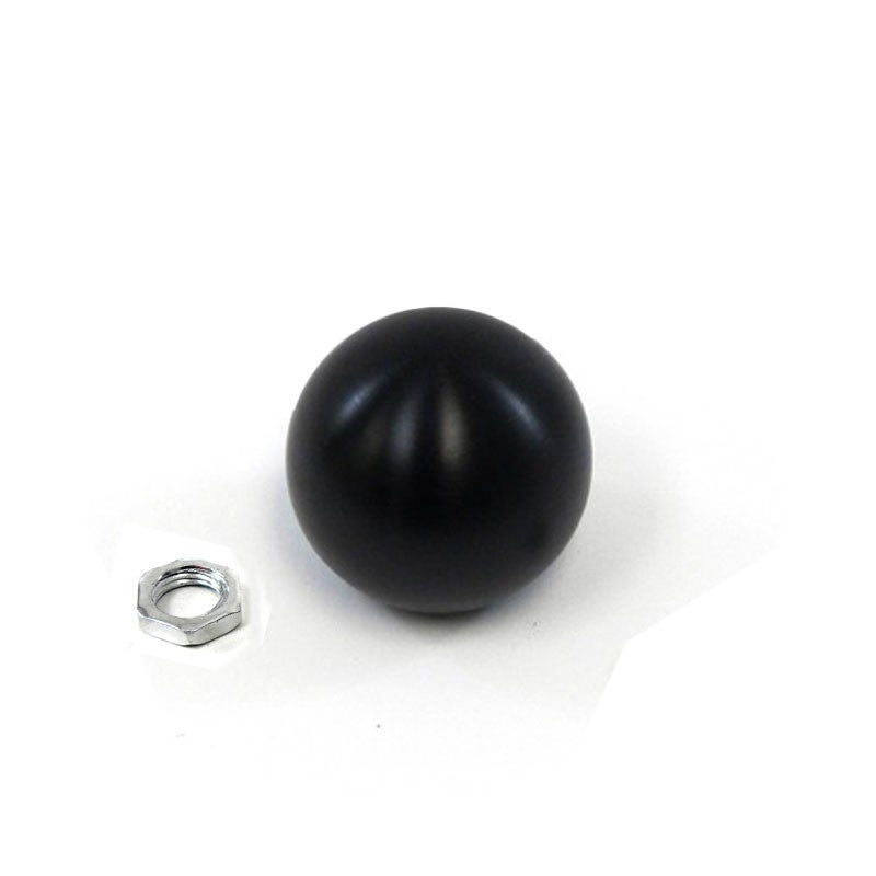 "5/6-Speed Glossy Black 2"" Ball Shape Clear Pattern 10mm x 1.5 Race Shift Knob"