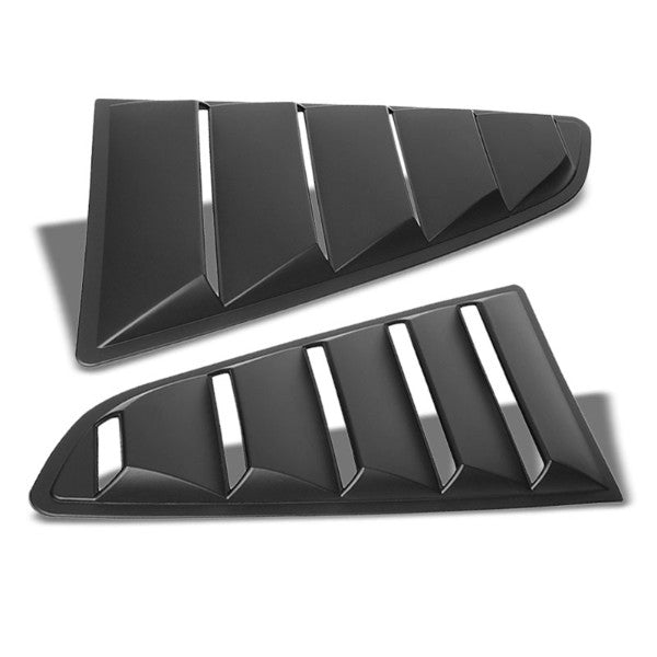 2PC Rear Matte Black Window Louver Side Scoop Cover For 15-18 Ford Mustang Coupe-Exterior-BuildFastCar