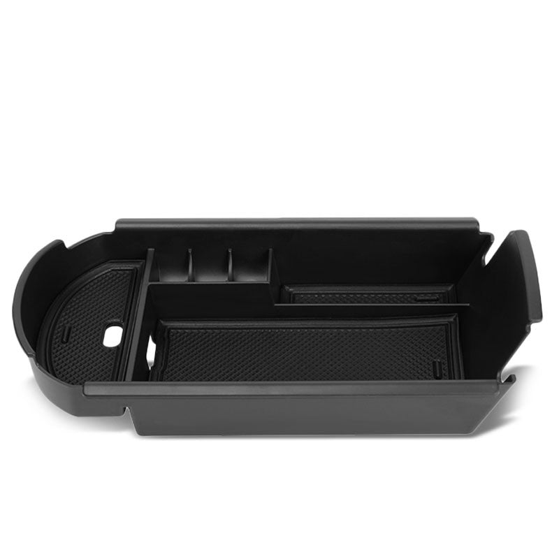 Black Center Console Storage Organizer Top Tray Lid For 18-19 Toyota C-HR 2.0L-Interior-BuildFastCar