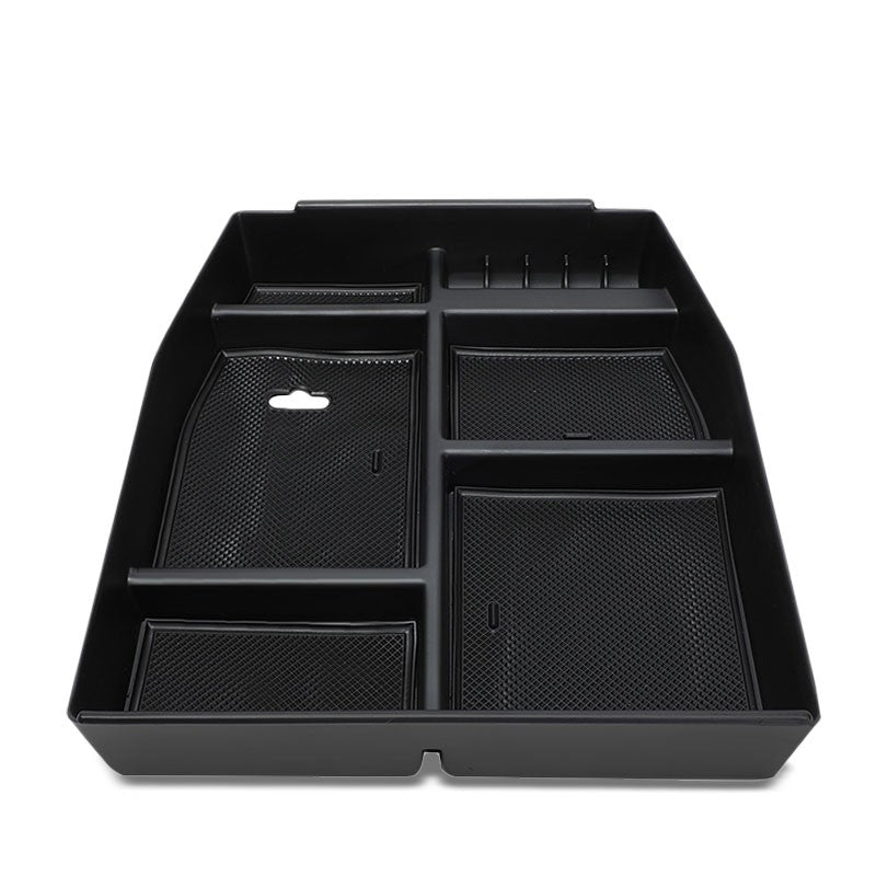 Black Center Console Storage Organizer Top Tray Lid For 15-18 Ford F-150 V6/V8-Interior-BuildFastCar