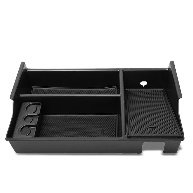 Black Center Console Organizer Coin Holder Top Tray Lid For 07-19 Toyota Tundra-Interior-BuildFastCar