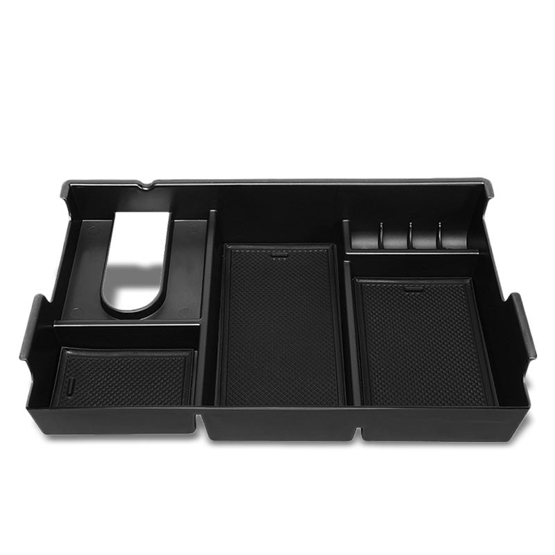 Black Center Console Storage Organizer Top Tray Lid For 07-19 Toyota Tundra DOHC-Interior-BuildFastCar