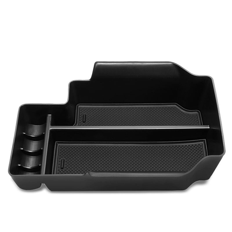 Black Center Console Storage Organizer Top Tray Lid For 15-19 Chevrolet Colorado-Interior-BuildFastCar